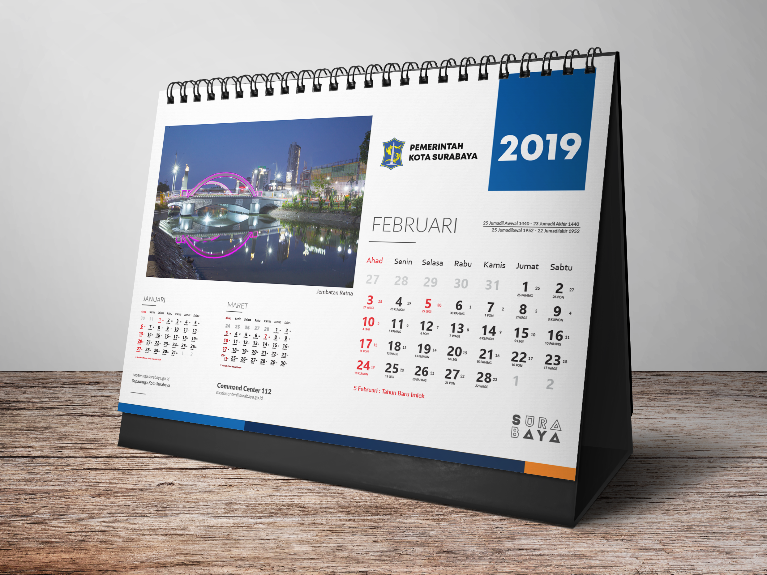 Surabaya Desk Calendar 2019 by Nadia Ningtias on Dribbble