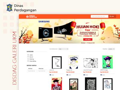 Home Page Galeri UKM Surabaya