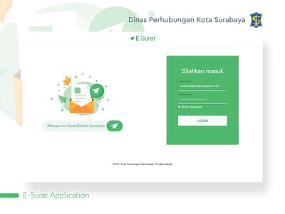 Dishub E-Surat - Login Page web uidesign layout html css html ui design 2019 sparkling surabaya surabaya