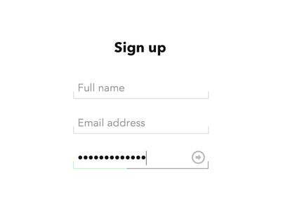 Minimal signup form HTML5 & CSS3 html5 css3 coding demo form sign up login input placeholder ios7 apple minimal