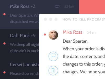 Mail OS X redesign mail os x flat redesign app ios7 design minimal mac