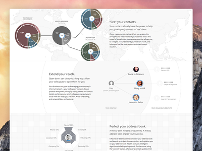 """""""Why Covve"""" page website design interface responsive html5 css3 graph"""