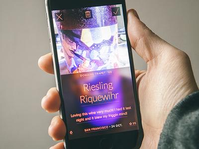 Progressive reduction app iphone design ui ux interface ios progressive reduction wine mobile