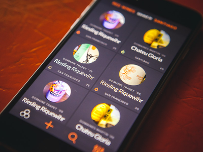 Vinoli feed wine app ios design ui ux mobile interface iphone