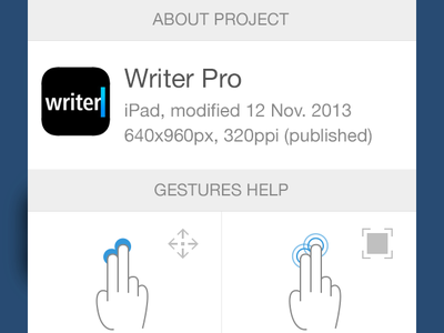 Proto.io app menu menu ios design app ux ui