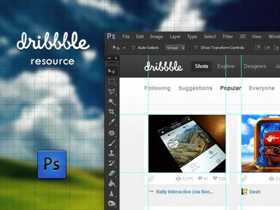Dribbble resource .TIF dribbble psd tif resource popular design tool guide photoshop adobe presentation compare shots ease