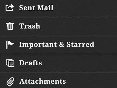 Mailer Unfold mailer app application email client mobile fold unfold swipe scroll interface ui design ios iphone menu navigation nav slide thumb