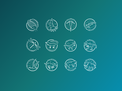 Epochs of Evolution Icon Set
