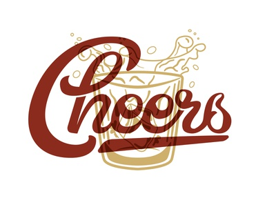 Cheers Handlettering logo icon hand drawn handlettered handlettering handletter illustrator typography lettering illustration design