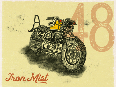 Harley Davidson Sportster Illustration