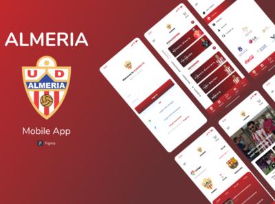 ALMARIA FC Mobile App adobexd android app design ios app uxdesign figma mobile app design mobile ui