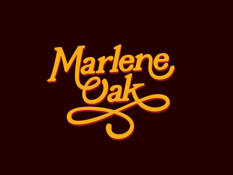 Marlene Oak Logo Refresh retro 70s logo branding logotype typography identity