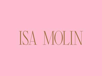 Isa Molin Logo typography logotype identity branding logo