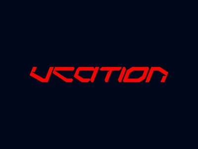 VCATION logo typo type identity logotype typography branding logo