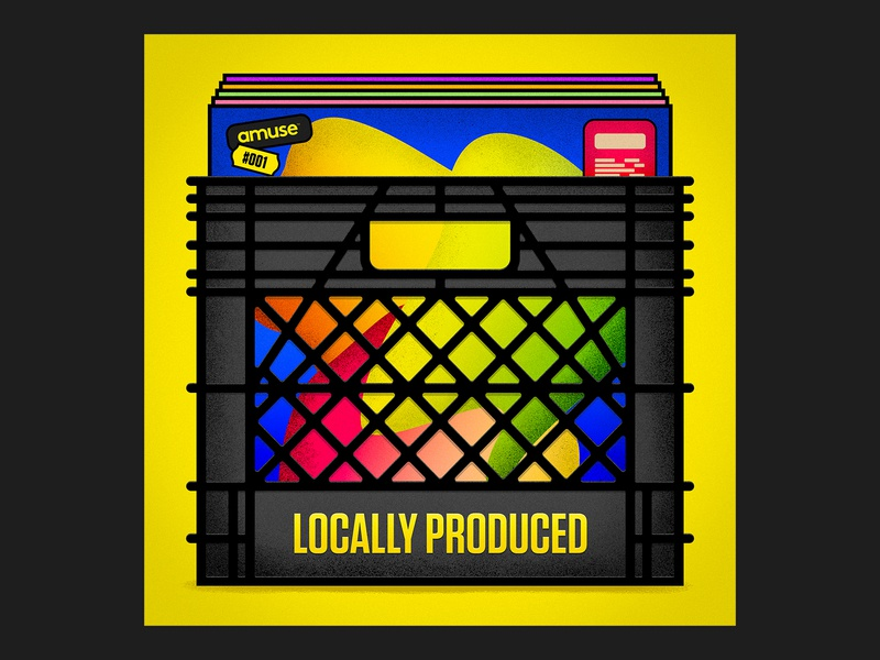Locally Produced Podcast Artwork amuseio amuse cover artwork cover art illustration cover identity branding podcast art podcast
