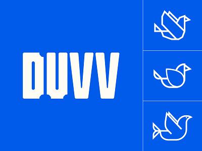 duvv logo dove logotype identity typography music branding logo
