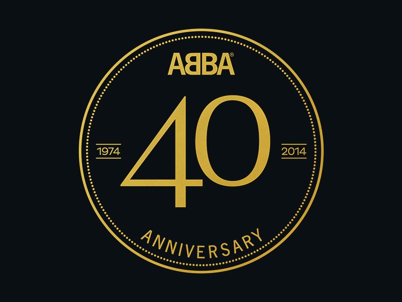 Abba 40th Anniversary Logo By Daniel Berg Dribbble