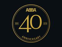 Abba 40th Anniversary Logo