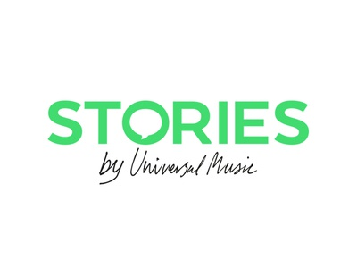Stories by Universal Music logotype logo wordmark typography identity branding