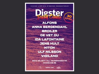 Digster Party Cruise digster cruise poster
