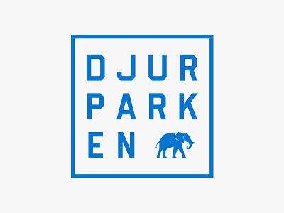 Djurparken symbol typography elephant branding identity logo