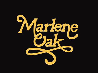 Marlene Oak Logo typography logotype identity branding logo
