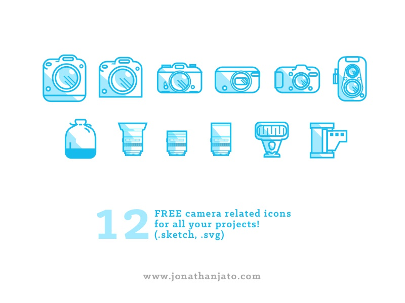 Freebie - Camera set icons by Jonathan Jato | Dribbble | Dribbble