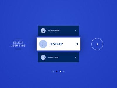 DailyUI #064 - Select User Type