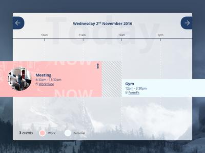 DailyUI #071 - Schedule