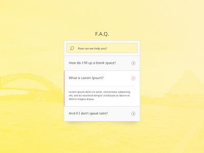 DailyUI #092 - F.A.Q. faq 92 challenge design ui daily dailyui