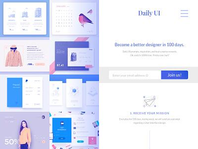 DailyUI #100 - DailyUI redesign web homepage redesign 100 challenge design ui daily dailyui
