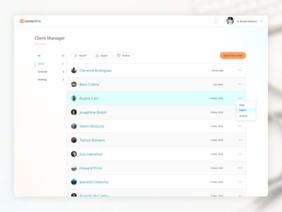 Connectme - Clientlist