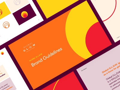 Global G.L.O.W. Brand Guide collateral color palette brand guidelines brand guide visual identity brand identity branding graphicdesign design