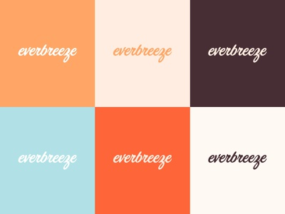 Everbreeze Logos logosystem logo color palette color visual identity brand identity branding design graphic design