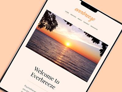 Everbreeze Website ui webdesign website visual identity brandidentity branding graphicdesign design