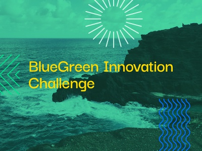 SeaAhead BlueGreen Challenge graphicdesign color palette visual identity brand identity sustainability environmental pattern illustration collateral color branding design