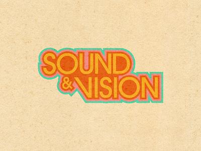 Sound & Vision 1970 music texture color palette 70sdesign 1970s typography graphic design design
