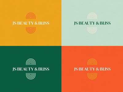 JS Beauty & Bliss Logos reiki hair stylist beauty color palette color logo brand identity branding visual identity graphicdesign design
