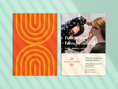 JS vBeauty & Bliss Stationary stylist beauty reiki collateral graphic design illustration color palette color branding brand identity visual identity design
