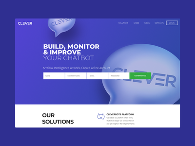 Clever - landing page
