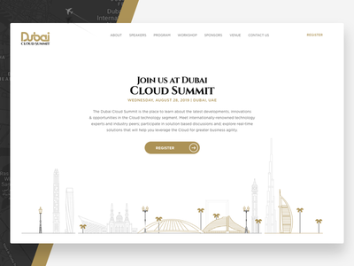 Dubai Cloud Summit Landing page