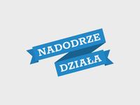 Nadodrze Działa logo nadodrze branding logo mark typography logo a day logodesign logo designer logo design ribbon vector logo