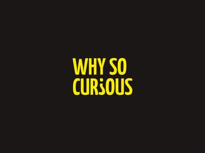 Why so curious logo website logo a day logo mark typography vector logo designer logodesign branding logotype design logotype logo design logo