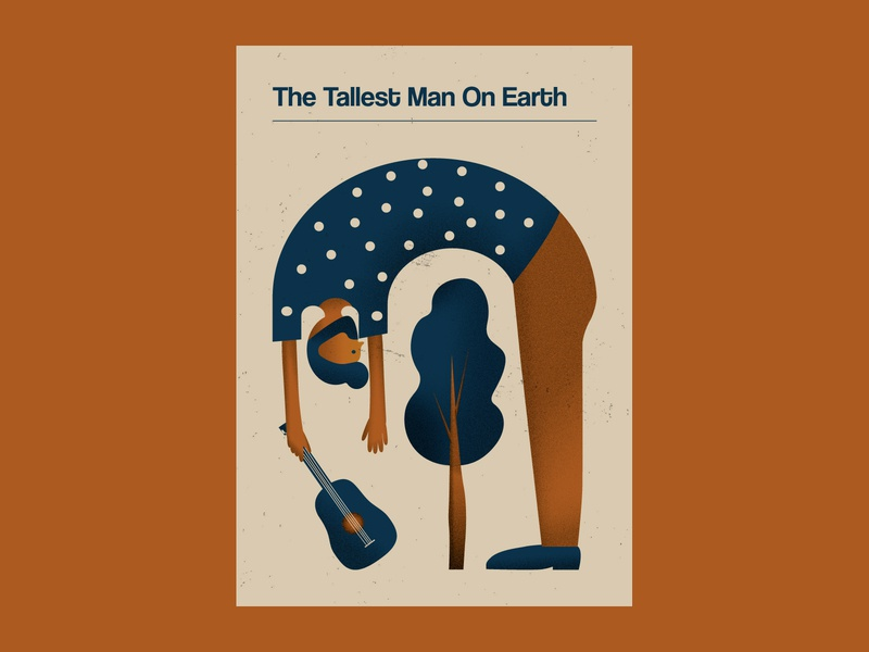 The Tallest Man on Earth Poster alternative music art indie music gig poster music poster retro design vector illustration