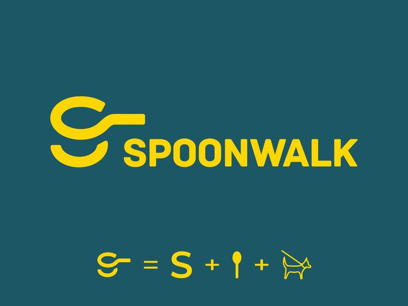 Spoonwalk logo design affinitydesigner affinity designer logotype logodesign logos logo design logo
