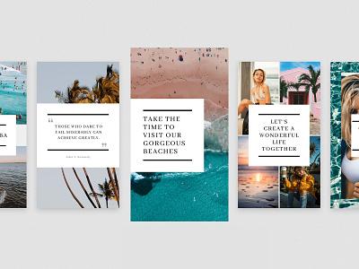 Aruba Instagram Stories Templates branding social media design insta stories instagram templates instagram stories instagram posts instagram ig stories