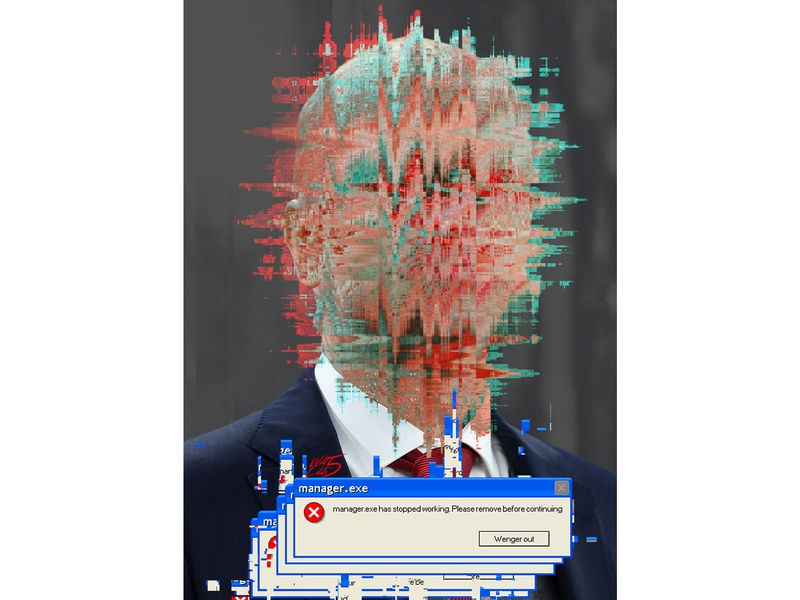 Published: Glitch Wenger glitch effect glitchart glitch sport magzine graphic design football arsene wenger photoshop arsenal design