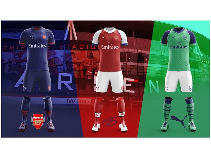 Concept Football Kits fashion football kit branding brand concept sport graphic design football arsenal photoshop design