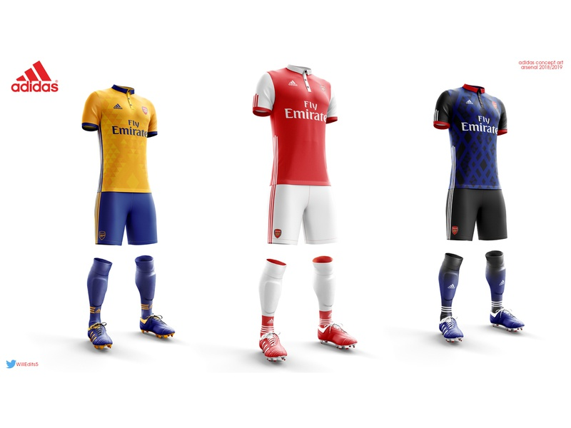 Arsenal concept Kits fashion football kit concept branding brand sport graphic design football arsenal photoshop design