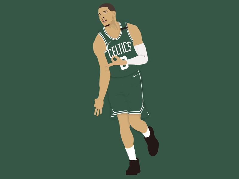 Jayson Tatum poster nike basketball tatum celtics nba vector sport graphic design photoshop design